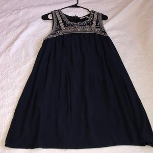 Gorgeous Navy Flowing Dress Size Large